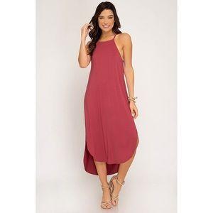 Heather Cami Midi Dress - Rose